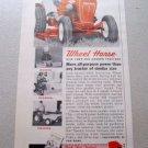 1961 Wheel Horse Lawn Garden Tractor Mower Color Print Ad