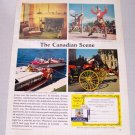 1961 Canadian Travel Bureau Color Print Ad - The Canadian Scene