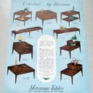 1961 Mersman Celestial Group Tables Color Print Ad
