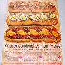 1961 Campbell's Soups Souper Sandwiches Color Print Ad