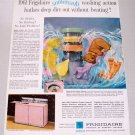 1961 Frigidaire Custom Imperial Washer Dryer Color Print Ad