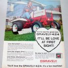 1968 Gravely 424 Compact Lawn Tractor Color Print Ad
