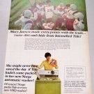 1968 Tide Detergent Little league Football Players Color Print Ad