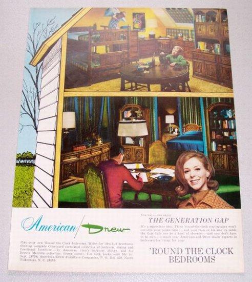 1968 American Drew Furniture Color Print Ad