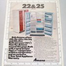 1968 Amana 25 Side by Side Refrigerator Color Print Ad