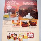 1969 Duncan Hines Pound Cake Color Print Ad