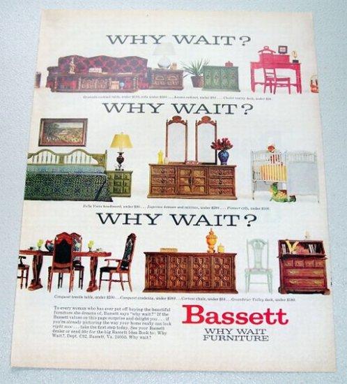 1969 Bassett Furniture Color Print Ad