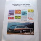 1969 Dodge Monaco Station Wagon Automobile Color Print Car Ad