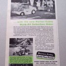 1960 Porter Cable Mark 24Suburban Rider Print Ad Celebrity Bob Cummings