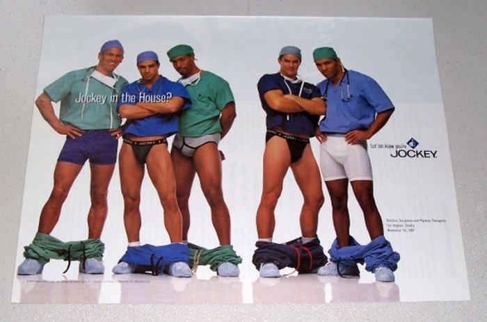 1998 Jockey Men's Underwear Los Angeles County Doctors Color Print Ad
