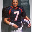 1998 GOT MILK Broncos Football Celebrity John Elway Color Print Ad