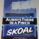 1998 Skoal Long Cut Smokeless Tobacco 2 Page Color Print Ad