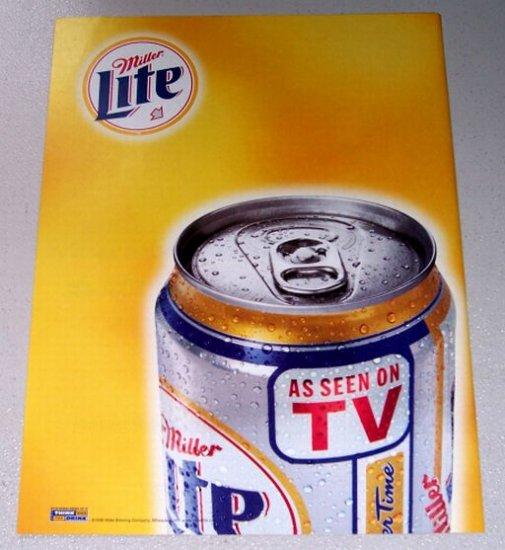 1998 Miller Lite Beer Color Print Ad - As Seen On TV