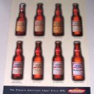 1997 Budweiser Beer Bud Bottles Color Print Ad