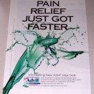 1998 Advil Liqui-Gels Pain Reliever Color Print Ad