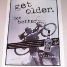 1998 Evan Williams Straight Bourbon Whiskey Bicycling Print Ad