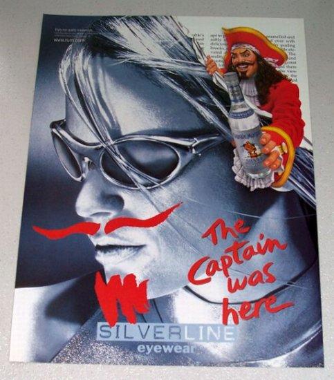 1998 Captain Morgan Spiced Rum Silverline Eyewear Color Print Ad