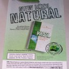 1998 KOOL Natural Lights Cigarettes Color Print Ad