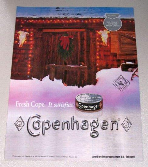 1998 Copenhagen Snuff Winter Christmas Color Print Tobacco Ad