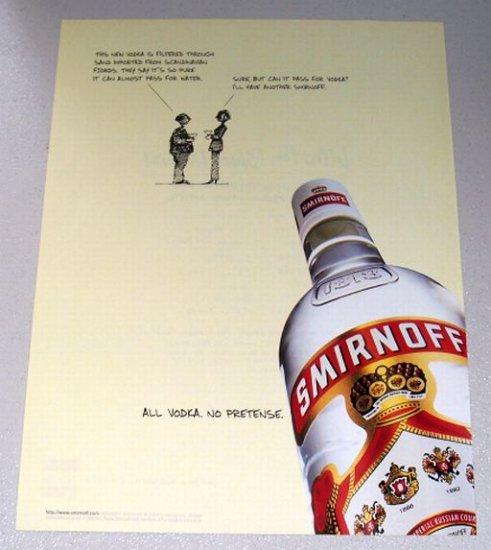 1998 Smirnoff Vodka Color Print Liquor Ad