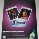 1998 Sprite Cola Color Print Ad NBA Celebrities Grant Hill Kobe Bryant
