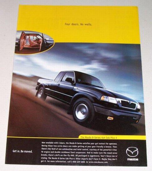 1998 Mazda B-Series 4x4 Cab Plus 4 Pickup Color Print Truck Ad