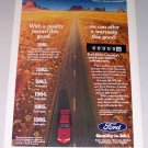 1987 Ford Motor Quality Desert Scene Color Print Ad