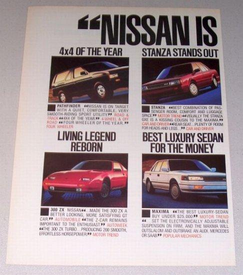 1987 NISSAN Automobiles 2 Page Color Print Ad