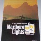 1987 Marlboro Cigarettes Horses Western Scene 2 Page Color Print Ad
