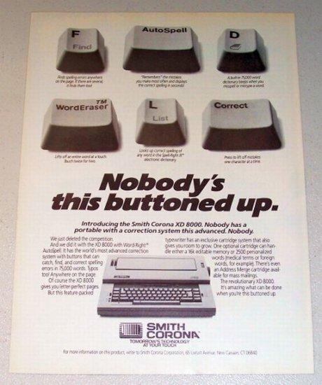 1987 Smith Corona XD 8000 Typewriter Print Ad