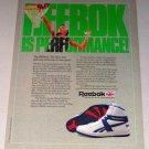 1987 Reebok BB5600 High Top Shoes Color Print Ad