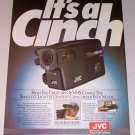 1987 JVC GR-C9 Video Movie Camcorder Color Print Ad
