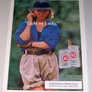 1987 Lucky Strike Lights Cigarettes Color Print Tobacco Ad