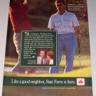 1987 State Farm Insurance Color Print Ad Will Brewer Gleneagle Country Club