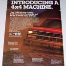 1988 Chevrolet Full Size 4x4 Pickup Black Bear 2 Page Color Print Truck Ad