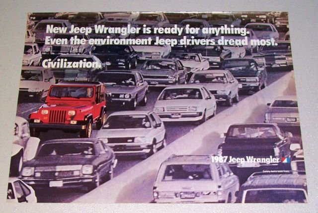 1987 Jeep Wrangler Color Print Truck Ad