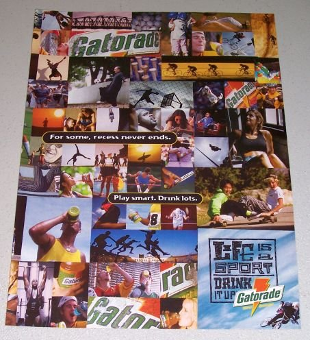 1995 Gatorade Thirst Quencher Color Print Beverage Ad
