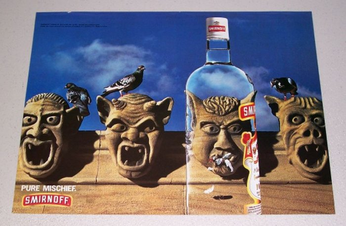 1995 Smirnoff Vodka Color Print Liquor Ad - Pure Mischief