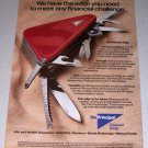 1995 The Principal Financial Group Swiss Army Knife Color Print Ad