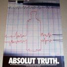 1995 Absolut Vodka Lie Detector Color Print Liquor Ad - Absolut Truth