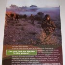 1995 Army Recruitment Color Print Military Ad