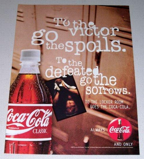 1995 Coca Cola Coke Soda Color Print Beverage Ad - To The Victor Goes The Spoils
