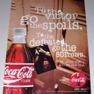 1995 Coca Cola Coke Soda Color Print Beverage Ad - To The Victor Goes The Spoils