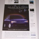 1995 Hyundai Accent Automobile Color Print Car Ad