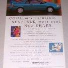1995 Toyota Paseo Automobile Color Print Car Ad