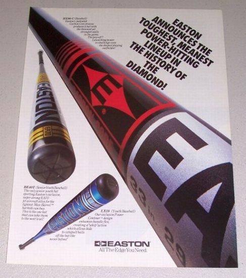 1995 EASTON Baseball Bats Color Print Ad
