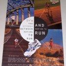 1995 Reebok Aztrek Plus Running Shoes Color Print Ad