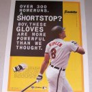 1995 Color Print Ad FRANKLIN Batting Gloves Orioles MLB Baseball Celebrity Cal Ripkin