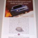 1995 Color Print Car Ad Nissan Maxima Automobile