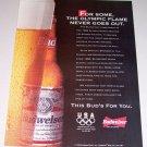 1995 Budweiser Beer Bud Color Print Brewery Ad